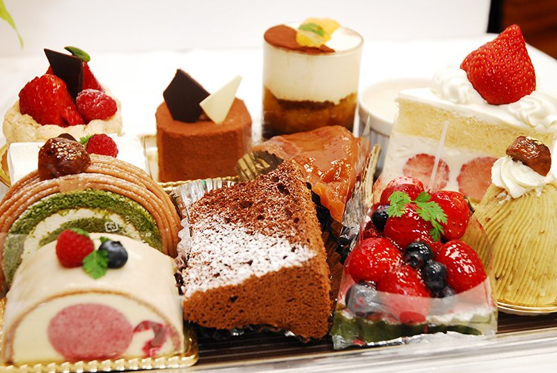 種類豊富なケーキの数々